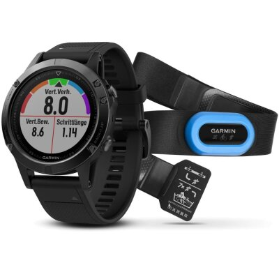 Garmin FENIX 5 SAPHIR GPS Performer Bundle